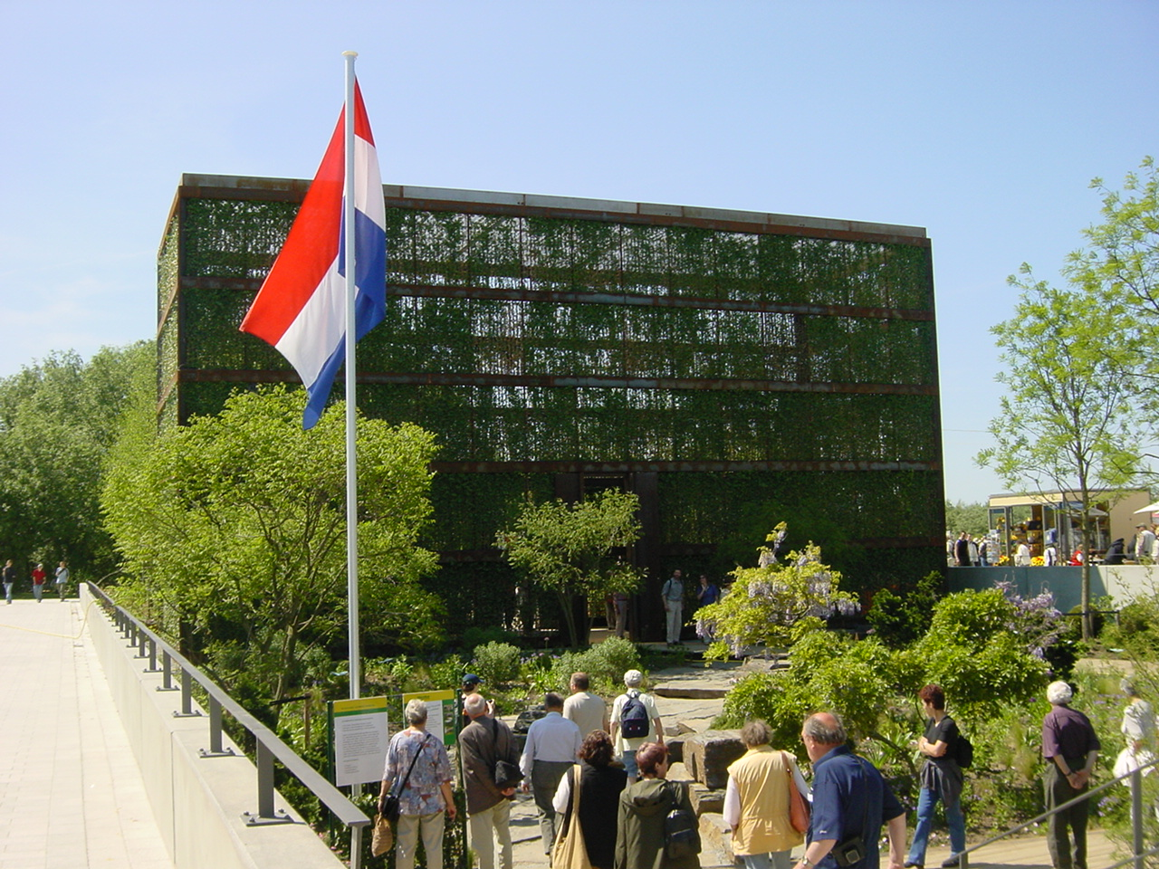 Outside green building view