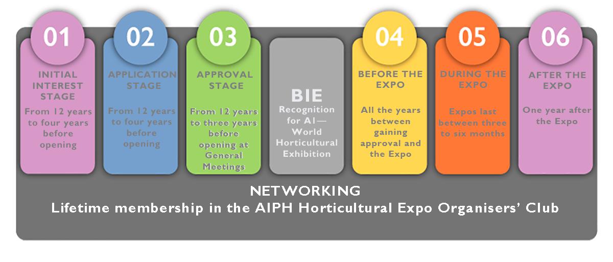 Expo organisation timeline chart